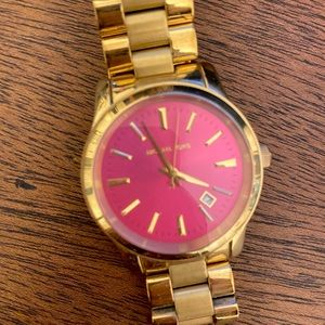 Michael Kors Gold/Hot Pink. Just needs new battery